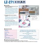 LZ-271 1-needle, Lockstitch, Zigzag Stitching 3