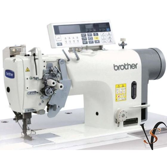 Brother T-8752C Twin Needle Direct Drive Split Needle Bar Lock Stitcher With Large Hook and Thread T