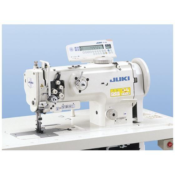 LU-1561N-7 Gauge (metric) 2-needle, Unison-feed, Lockstitch Machine with Vertical-axis Large Hook